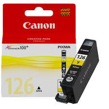 Canon CLI-126 Cartucho de Inyección de Tinta Amarillo