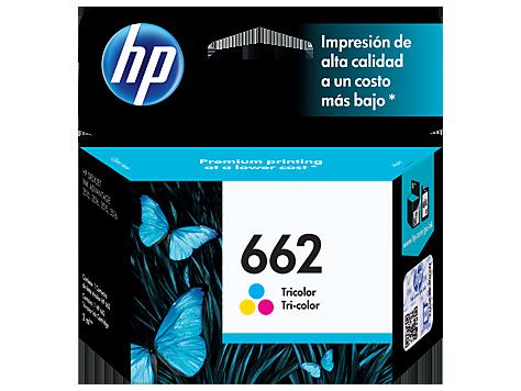 Tinta HP 662 Cartucho de Inyección de Tinta Tricolor
