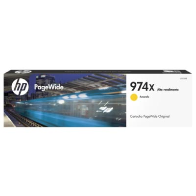 Cartucho Original Pagewide HP 974x de Alta Capacidad Yellow